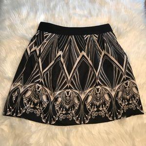 Worthington A-Line Skirt Black White